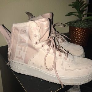 Limited edition pink air force ones high tops